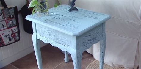 give furniture  crackle paint finish