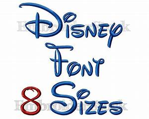 Walt Disney Font Machine Embroidery Design Alphbet Disney