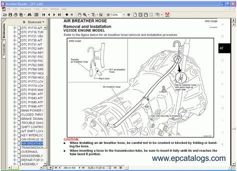 manual repair autos 2007 infiniti qx electronic valve timing infinity r50 series qx4 service manual