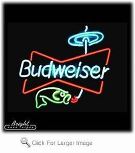 Budweiser Fishing Neon Sign only $299 99 Budweiser Neon