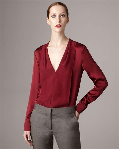 v neck blouses v neck silk blouse lace henley blouse