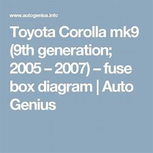 Toyota Corolla  2005 - 2007