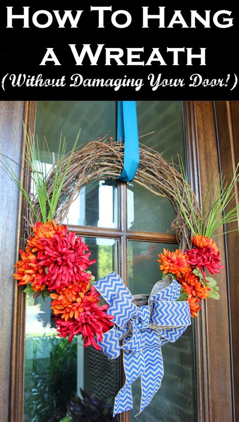 how to hang a door how to hang a wreath without damaging your door less
