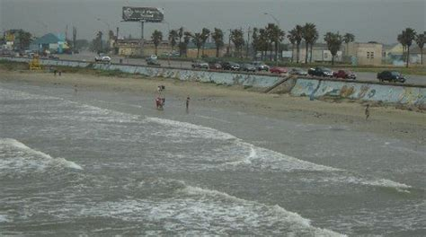 galveston tx  beach area    seawall blvd photo picture image texas  city