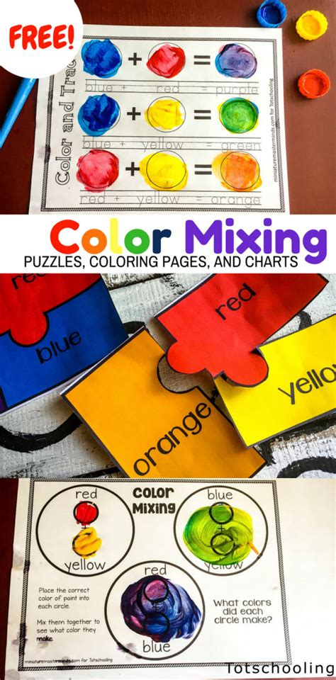 I'm creator of unique printable posters and coloring pages for kids. Color Mixing Activity Pack | Totschooling - Toddler, Preschool, Kindergarten Educational Printables