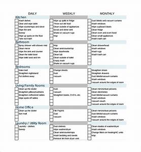 Sample house cleaning checklist 13 documents in word pdf for Maid checklist template