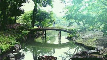 Japanese Landscape Bridge Standing