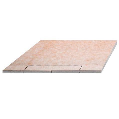 home depot floor ls schluter kerdi shower ls 55 in x 55 in polystyrene sloped shower tray ksl1400s the home depot