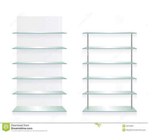 Empty Shop Glass Shelves Stock Vector Illustration Of