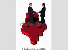 Clipart of Business people shaking hands on Albania map