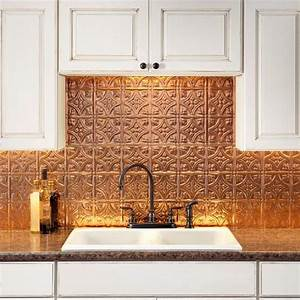 creative backsplash ideas to spruce up your kitchen With kitchen cabinets lowes with antique bronze metal wall art