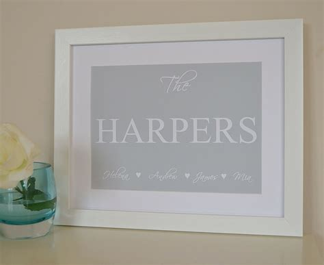housewarming gift  home present personalised family