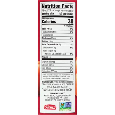 HEINZ No Salt Added Diced Tomatoes in Juice, 102 oz. Can ...
