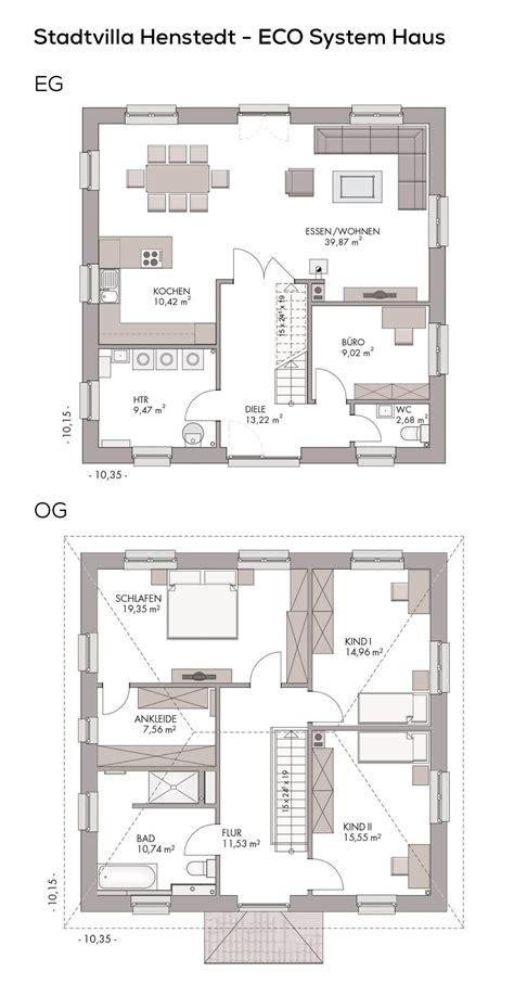 Stadtvilla Grundrisse 140 Qm by Grundriss Stadtvilla Modern Mit Klinker Fassade Walmdach