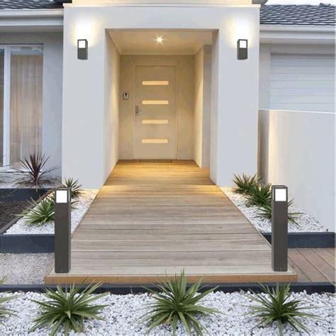 entree de maison moderne 1001 lumi 232 res pour sublimer votre jardin la nuit 233 e