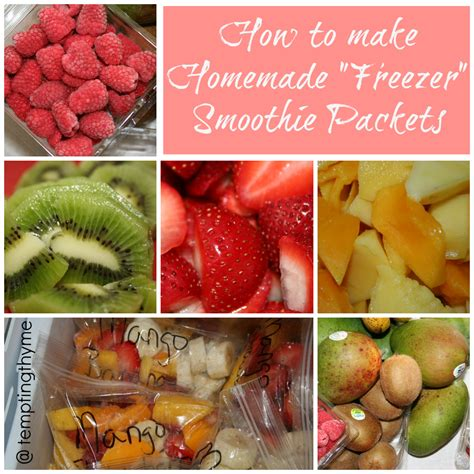 how to make a fruit smoothie homemade freezer smoothie packets tempting thyme