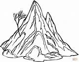 Coloring Mountain Pages Printable Popular sketch template