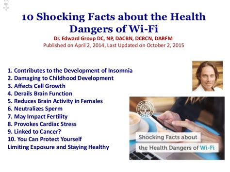 the health dangers of wi fi radiation