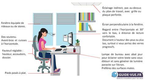 guide d ergonomie travail de bureau travail sur écran ergonomie fatigue des yeux guide vue