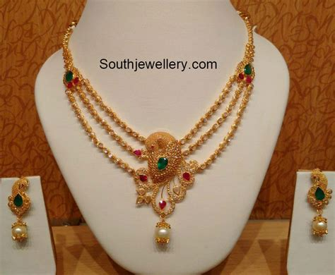 The Gallery For --> Indian Traditional Gold Necklace Designs Children's Jewelry Winnipeg Harris Create Account Inexpensive Organizer Aquamarine At Kohl's Gold Sell Philippines Lds