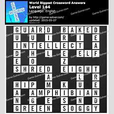 Worlds Biggest Crossword Level 144  Game Solver