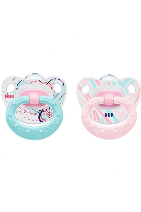 Nuk Silicone Pacifier Soother 0 6 Months 2 Pcs Happy Ac