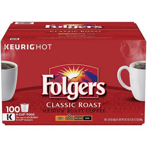 Whether it is 8 am or pm this decaf medium roast blend folgers coffee is crafted by experienced roastmasters that ensures a classic coffee drinking. Folgers Classic Roast Medium Roast Coffee 80 K-Cups for Keurig Brewer | eBay