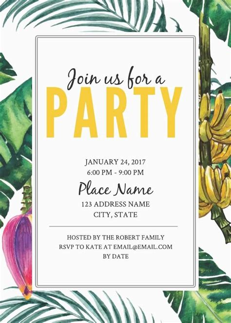 invitation party templates 16 free invitation card templates examples lucidpress