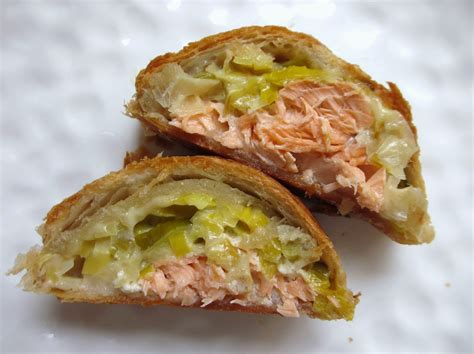 cuisine poireaux feuillete tresse au saumon et poi