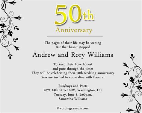 50th anniversary invitations templates 50th wedding anniversary invitation wording wordings and messages