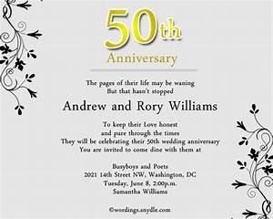 50th wedding anniversary invitation wording samples in With 50th wedding anniversary invitations wording in spanish