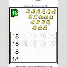 Trace And Write Number 18  5  Writing Numbers, Numbers Preschool, Preschool Worksheets