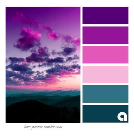 colors make purple sunset palette of colors