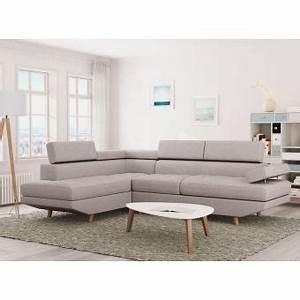 Canapé D Angle Style Scandinave : 270 sur canap d 39 angle style scandinave 4 places tissu beige linnea angle gauche achat ~ Teatrodelosmanantiales.com Idées de Décoration