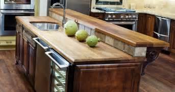 oak kitchen island with seating teak countertops j aaron