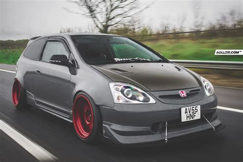 Modified Civic Type R Ep3 by Honda Civic Ep3 Widebody Modified Fitment Flush