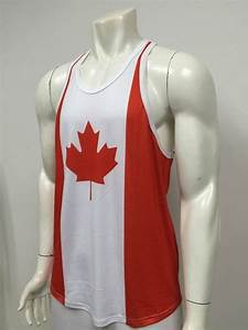 Mens Bodybuilding Canada Flag Workout Tank Top Gym Stinger Muscle Fitness Shirt