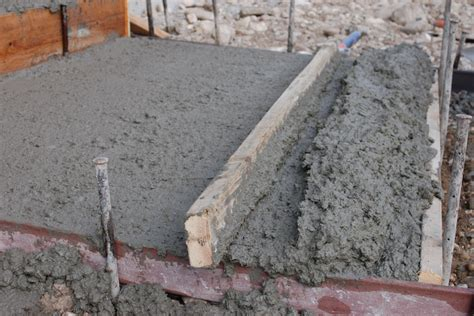 miscellaneous pouring concrete slab careful plan