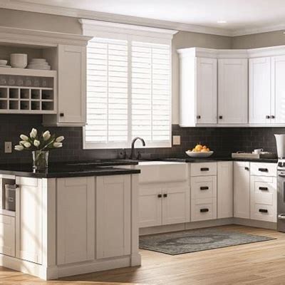 pictures of white kitchen cabinets with white appliances kitchen cabinets color gallery at the home depot 9885