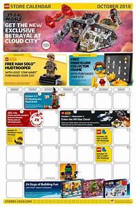 October 2018 Lego Store Calendar Usa Version