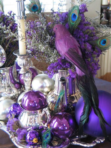ideas  purple christmas decorations