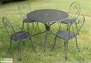 Chaise De Jardin Metal : table et chaise metal de jardin table de jardin bois ~ Dailycaller-alerts.com Idées de Décoration