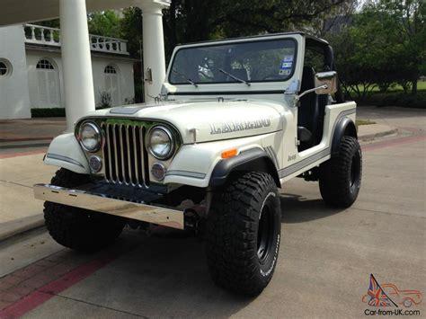 cj jeep wrangler classic white 1983 amc jeep cj 7 4x4 cj cj7 wrangler 258