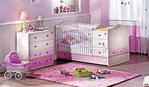 Commode Bebe Fille : design interieur chambre petite fille blanche rose lit ~ Teatrodelosmanantiales.com Idées de Décoration