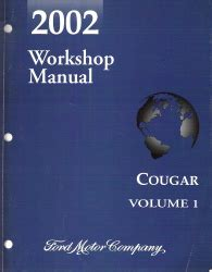 auto repair manual online 2002 mercury cougar seat position control 2002 mercury cougar factory workshop manual 2 volume set