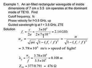 Guide Wavelength Formula