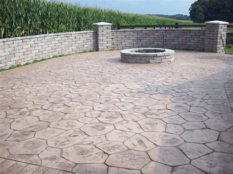concrete fire pits in decorative concrete
