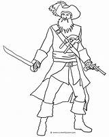 Pirate Blackbeard Pages Coloring Sword Drawing Ship Adults Printable Sketch Getdrawings Getcoloringpages Hat Clipartqueen Template sketch template