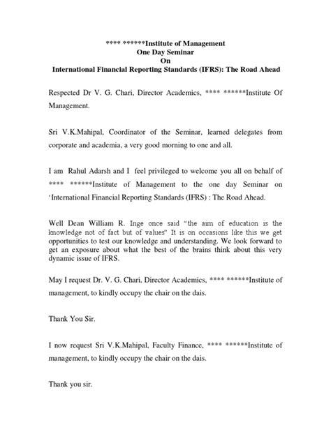 anchoring script  international seminar ifrs