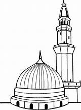 Kaaba Drawing Masjid Coloring Mosque Outline Islamic Sketch Pages Mecca Islam Worksheet Culture Pattern Into Drawings Clip Sketches Paint Tracing sketch template